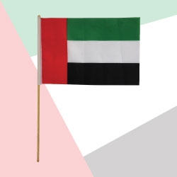 A4 Size Polyester Hand Flag TZ-UAE-FW
