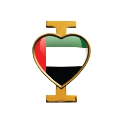 I Love UAE Flag Pin Badges TZ-2082
