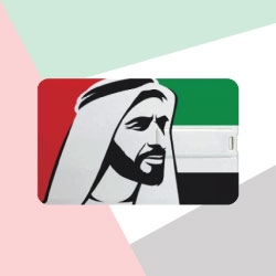 UAE National Day Card Shape Flash Drive TZ-USB-11