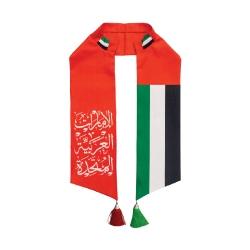 UAE Flag National Day Satin Scarf TZ-SC-08