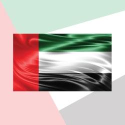 UAE Flag Satin Material TZ-UAE-F-B