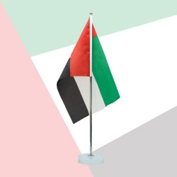 UAE Flag Table Stand TZ-UAE-FS-GL