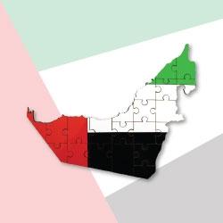 UAE Map Hardboard Puzzle TZ-PP-UAE
