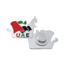 UAE Map Shape Flag Badges TZ-NDB-17