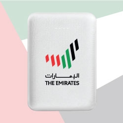 UAE White Mini Power Bank 5000 mAh TZ-JU-PB-5000-W
