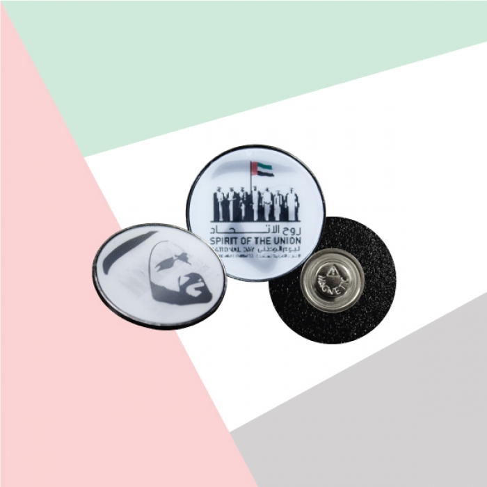 Lenticular Badges with Sheikh Zayed Picture TZ-NDB-22