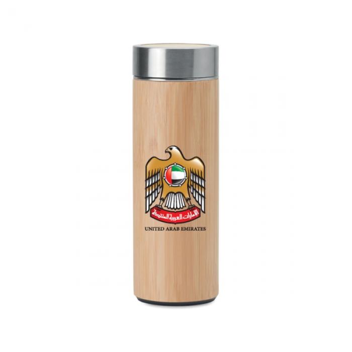 UAE-Falcon-Logo-Bamboo-Flask-with-Tea-Infuser-TZ-TM-011