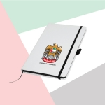White-Cover-A5-Size-PU-Notebook-with-UAE-Falcon-Logo-TZ-MB-05-WW-2