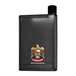 A5 Memo Water Bottle with UAE Falcon Logo TZ-TM-003-BK