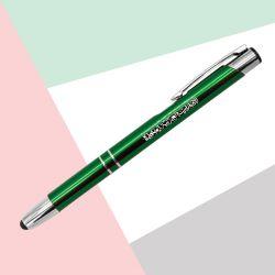 Aluminum Green Pen with Stylus Touchscreen TZ-PN45-GR
