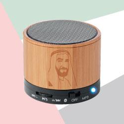 Bamboo Bluetooth Speaker with Sheikh Zayed Photo