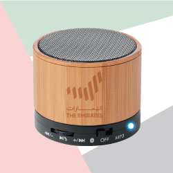 Bamboo Bluetooth Speaker with The Emirates Logo