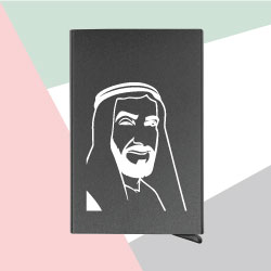 Business Card Holder with Sheikh Zayed Photo