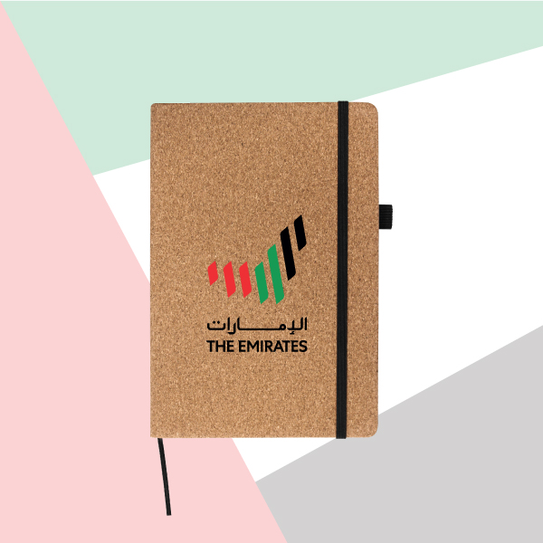Emirates Logo A5 Size Cork Cover Notebook TZ-MB-05-C-2