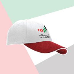 Emirates Logo Soft Mesh Red Cap TZ-CAP-M-01