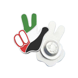 Peace Sign UAE Flag Badges with Magnet TZ-2102