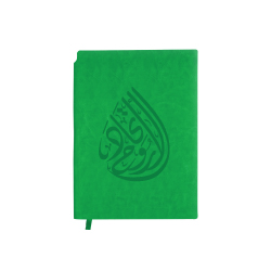 Spirit of Union Logo A5 Size Green PU Leather Notebook TZ-MB-05-CC-GR