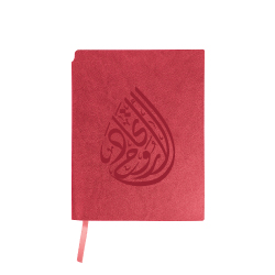 Spirit of Union Logo A5 Size Red PU Leather Notebook TZ-MB-05-CC-R