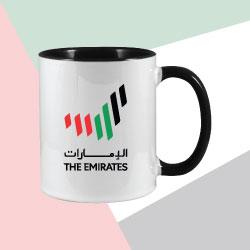 Two Tone Sublimation Mug with The Emirates Logo