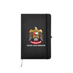 UAE Falcon A5 Size Black PU Leather Notebook TZ-MB-05-BK