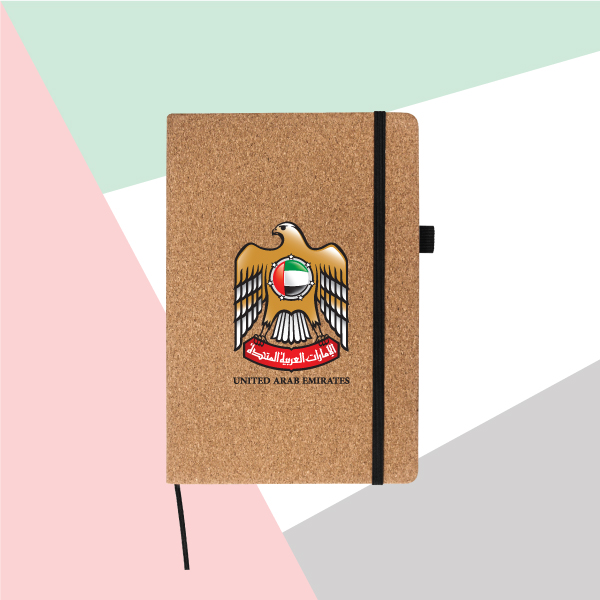 UAE Falcon A5 Size Cork Cover Notebook TZ-MB-05-C-1