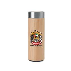 UAE Falcon Logo Bamboo Flask with Tea Infuser TZ-TM-011