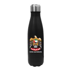 UAE Falcon Logo Black Travel Bottle TZ-TM-009-BK
