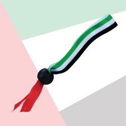 UAE Flag Ribbon Wristband TZ-NDP-06