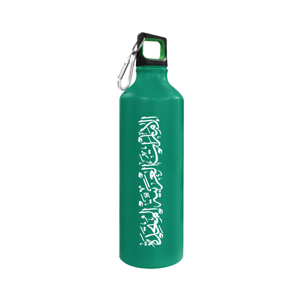 Green Sports Bottle with UAE Printing TZ-140-GR