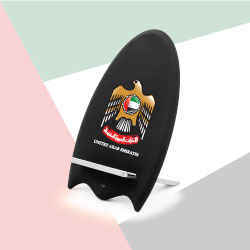 Wireless Charger Stand with UAE Falcon Logo